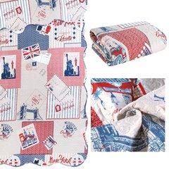 Narzuta wzór młodzieżowy patchwork 170x210cm - 170 X 210 cm - mix kolorów 5