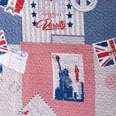 Narzuta wzór młodzieżowy patchwork 170x210cm - 170 X 210 cm - wielokolorowy 4
