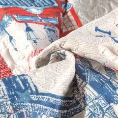 Narzuta wzór młodzieżowy patchwork 170x210cm - 170 X 210 cm - wielokolorowy 6