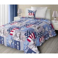 Poszewka na poduszkę usa 40 x 40 cm  - 40 X 40 cm - niebieski/mix kolorów 2
