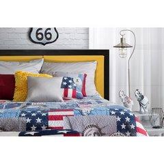 Poszewka na poduszkę usa 40 x 40 cm  - 40 X 40 cm - niebieski/mix kolorów 3