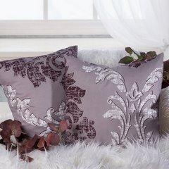 Poszewka na poduszkę biała z ornamentowym wzorem 40 x 40 cm - 40 X 40 cm - wrzosowy 6