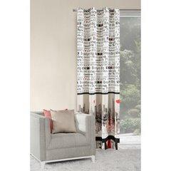 Poszewka na poduszkę 40 x 40 cm new york biało czarna  - 40x40 - srebrny 2