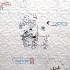 Narzuta młodzieżowa motyw komiksowy kremowa 170x210cm - 170 x 210 cm - naturalny 8