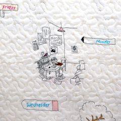 Narzuta młodzieżowa motyw komiksowy kremowa 170x210cm - 170 x 210 cm - naturalny 4