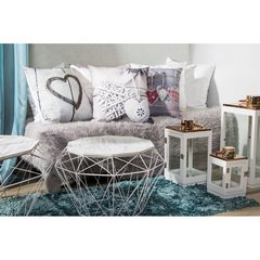 Poszewka na poduszkę verona szara 40 x 40 cm  - 40x40 - biały / czarny 2