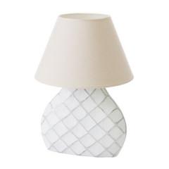 Lampa ceramiczna żłobiona podstawa z przetarciami 54 cm - 32 X 10 X 54 cm - biały 1