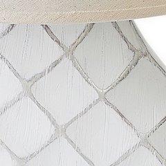 Lampa ceramiczna żłobiona podstawa z przetarciami 54 cm - 32 X 10 X 54 cm - biały 7