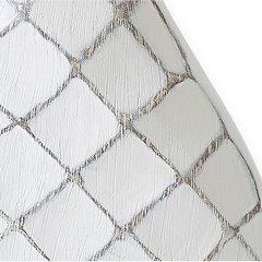 Wazon ceramiczny żłobiony z przetarciami 54 cm - 26 X 10 X 54 cm - biały 7