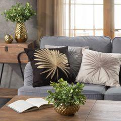 Dekoracyjny wazon ceramiczny wytłaczany złoty 37 cm - ∅ 12 X 37 cm - złoty 10