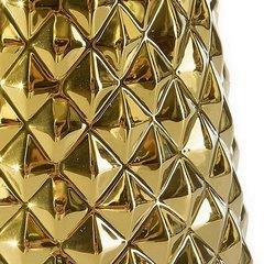 Dekoracyjny wazon ceramiczny wytłaczany złoty 35 cm - ∅ 15 X 35 cm - złoty 4