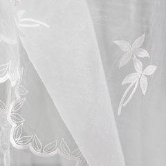 Firana haftowana z satynową listwą na tunelu 400x160cm - 400x160 - kremowy 5