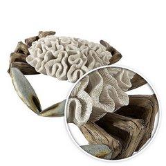 Figurka krab dekoracyjny motyw rafy koralowej - 33 X 32 X 9 cm - ecru/beżowy 8