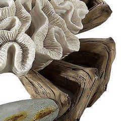 Figurka krab dekoracyjny motyw rafy koralowej - 33 X 32 X 9 cm - ecru/beżowy 9