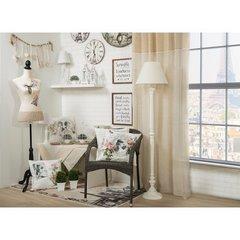 Poszewka dekoracyjna na poduszkę 45 x 45 kolor brązowy - 45 X 45 cm - kremowy/różowy 3