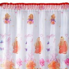 Zasłona dziecięca z motywem Hannah Montana 180x160 cm taśma - 180 X 160 cm - biały/mix kolorów 2