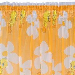 Zasłona dziecięca z motywem kanarka tweety 180x170 cm taśma - 180 X 160 cm - pomarańczowy/mix 6