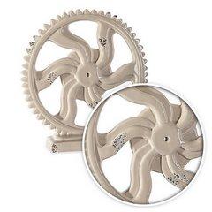 Figurka koło zębate z dolomitu 20 x 5 x 20 cm shabby chic - ∅ 20 X 5 X 20 cm - beżowy 7