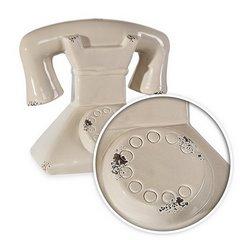 EVEREN CERAMICZNA FIGURKA DEKORACYJNA KOŁO TELEFON Z DOLOMITU 18x13x17 cm - 18 X 13 X 17 cm - beżowy 5