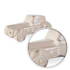 Figurka z dolomitu samochód 25 x 11 x 11 cm shabby chic - 25 X 11 X 11 cm - beżowy 3