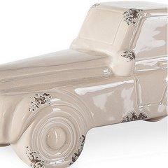 Figurka z dolomitu samochód 25 x 11 x 11 cm shabby chic - 25 X 11 X 11 cm - beżowy 4
