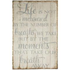 Obraz napisy list vintage 45 x 76 x 2 cm - 45 X 76 X 2 cm - biały/beżowy 1