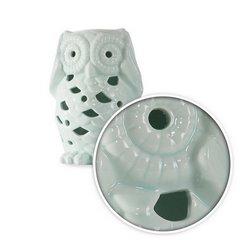 Figurka ceramiczna miętowa sowa ażur 14 cm - ∅ 9 X 14 cm - miętowy 3