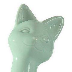 Figurka ceramiczna kot kolor miętowy 20 cm - 10 X 6 X 20 cm - jasnozielony 4