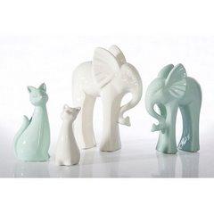 Figurka ceramiczna kot kolor miętowy 20 cm - 10 X 6 X 20 cm - jasnozielony 3