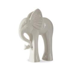Figurka ceramiczna słoń 21 cm - 19x8x21 - kremowy 1