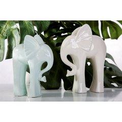 Figurka ceramiczna słoń 21 cm - 19x8x21 - kremowy 5
