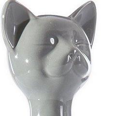 Figurka ceramiczna kot popielaty 32 cm - 13 X 11 X 32 cm - popielaty 5
