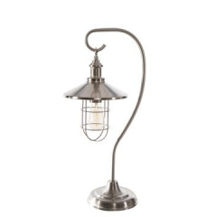 Lampa loftowa metalowa w stylu retro - ∅ 24 X 29-125 cm - chrom 3