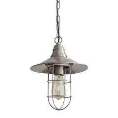 Lampa loftowa metalowa w stylu retro - ∅ 24 X 29-125 cm - chrom 4