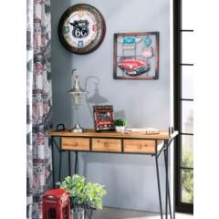 Lampa loftowa metalowa w stylu retro - ∅ 24 X 29-125 cm - chrom 5