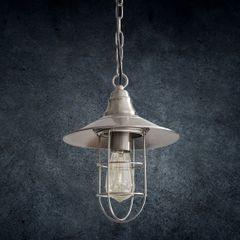 Lampa loftowa metalowa w stylu retro - ∅ 24 X 29-125 cm - chrom 6