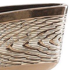 Wazon ceramiczny wytłaczany złoty 19 cm - 30 X 9 X 19 cm - złoty 4