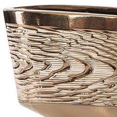 Wazon ceramiczny złoty struktura drewna 25 cm - 36 X 13 X 25 cm - złoty 6