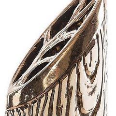 Wazon ceramiczny złoty struktura drewna 48 cm - 18x11x48 - złoty 4