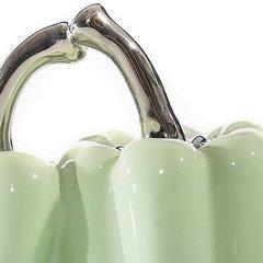 Figurka ceramiczna papryka kolor miętowy 11 cm - 13 X 7 X 11 cm - miętowy/srebrny 3