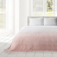 Miękki koc z efektem ombre różowy 170x210 - 170 X 210 cm - kremowy/różowy 1