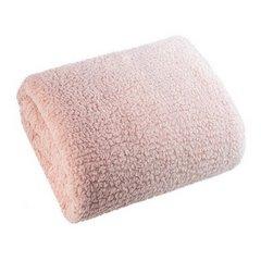 Miękki koc z efektem ombre różowy 170x210 - 170 X 210 cm - kremowy/różowy 3