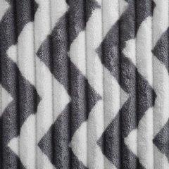 Miękki KOC w zygzak TALUS w stylu skandynawskim 170x210 - 170x210 - czarny 3