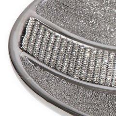 Patera ceramiczna z pasem kryształów 30 cm - ∅ 31 X 4 cm - srebrny 5