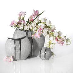 Patera ceramiczna z pasem kryształów 30 cm - ∅ 31 X 4 cm - srebrny 6
