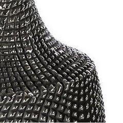Wazon ceramiczny o wytłaczanej powierzchni 34 cm - ∅ 16 X 34 cm - grafitowy/srebrny 4