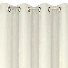Zasłona gotowa kremowa 140x250 cm przelotki - 140x250 - kremowy 3