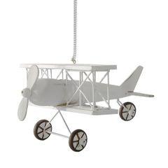 Figurka dekoracyjna samolot drewno 13 x 15 x 9 cm - 13 X 15 X 9 cm - biały 1