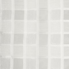 Kremowa zasłona w srebrną kratę na przelotkach 140x250 cm - 140 X 250 cm - kremowy 4