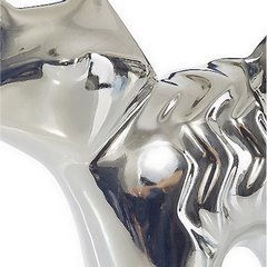 Figurka ceramiczna srebrny kot 15 cm - 16 X 5 X 15 cm - srebrny 3